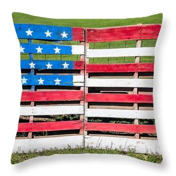 American Folk Art Throw Pillow