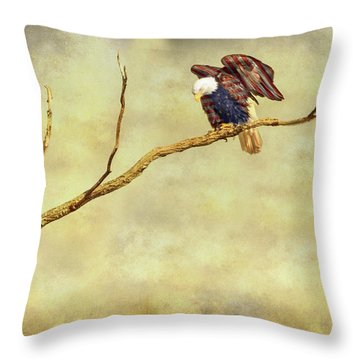 Throw Pillow featuring the photograph American Freedom by James BO Insogna