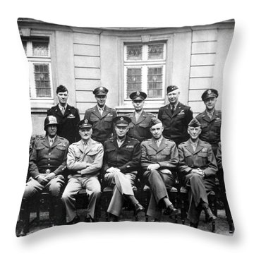 American Generals Wwii  Throw Pillow by War Is Hell Store
