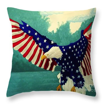 American Glory Throw Pillow by Kyle  Brock