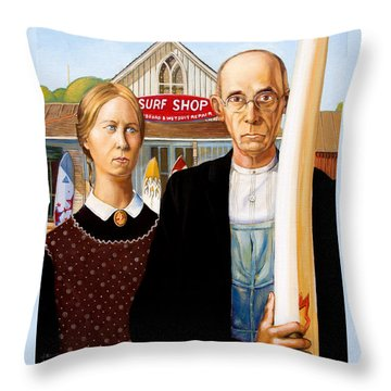 American Gothic - Amadeus Series Throw Pillow by Dominique Amendola