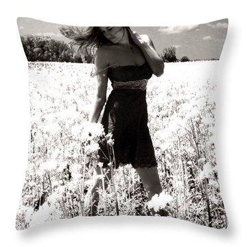 American Honey Throw Pillow