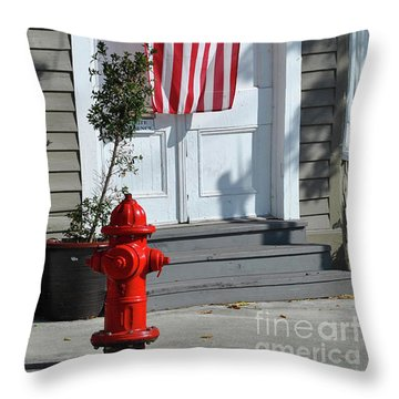 Throw Pillow featuring the photograph American Hydrant by Jost Houk