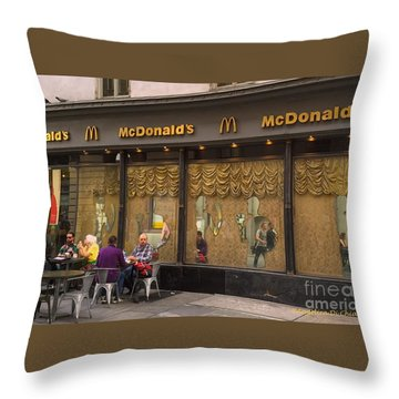 American Italy Throw Pillow