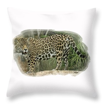 American Jaguar 18 Throw Pillow