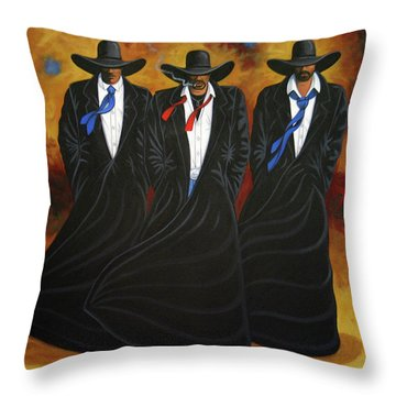 American Justice Throw Pillow by Lance Headlee