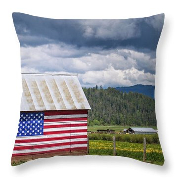 American Landscape Throw Pillow