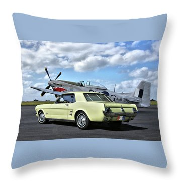 American Legends Throw Pillow by Steven Agius