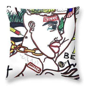 American Made N.i.g.g.e.r. Throw Pillow