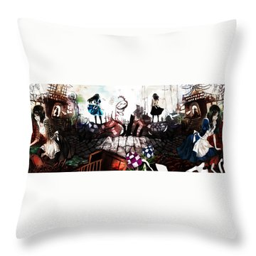 American Mcgee's Alice Throw Pillow