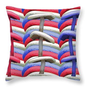 American Mushrooms Throw Pillow