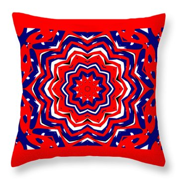 Kaleidoscope 5555 Throw Pillow