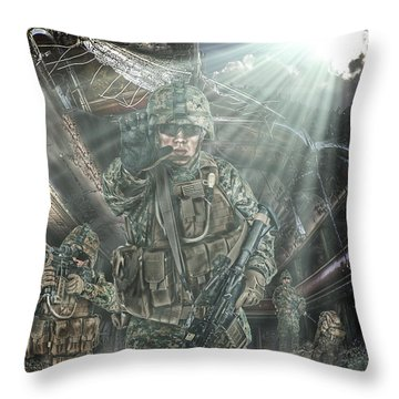 American Patriots Throw Pillow