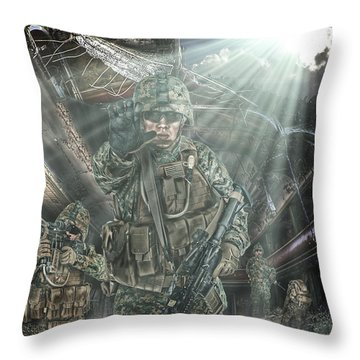 American Patriots Throw Pillow by Mark Allen