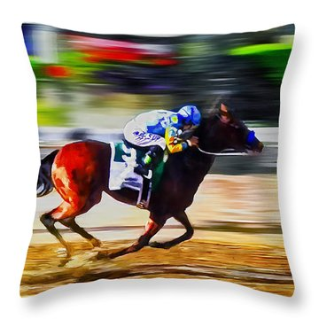American Pharoah Throw Pillow