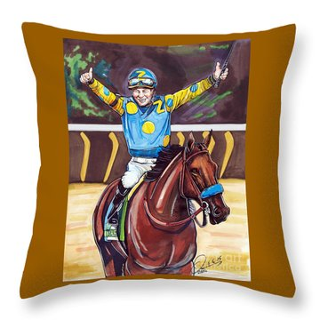 American Pharoah The Triple Crown Throw Pillow