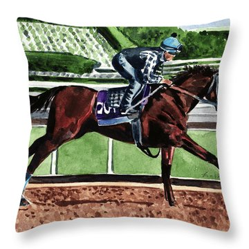 American Pharoah Triple Crown Winner Throw Pillow