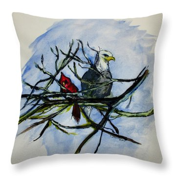American Picture Throw Pillow