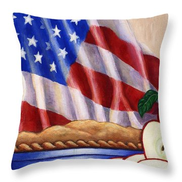 American Pie Throw Pillow by Linda Mears