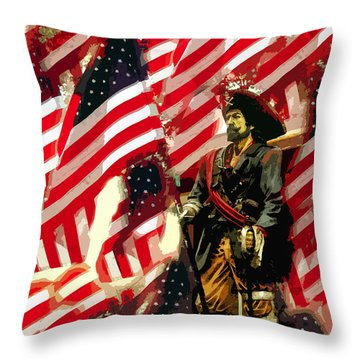 American Pirate Throw Pillow by David Lee Thompson