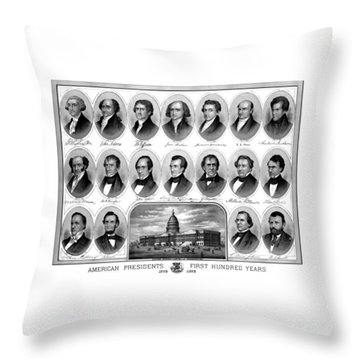 American Presidents First Hundred Years Throw Pillow