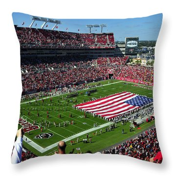 American Pride Bucs Style Throw Pillow by David Lee Thompson