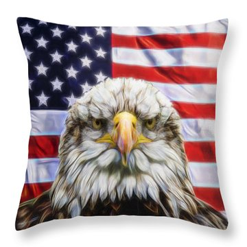 Throw Pillow featuring the photograph American Pride by Scott Carruthers