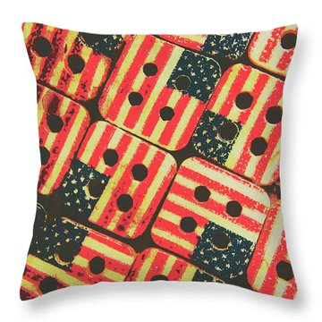 American Quilting Background Throw Pillow