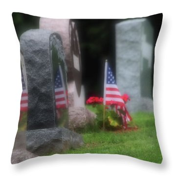 American Reflections Throw Pillow by Karol Livote