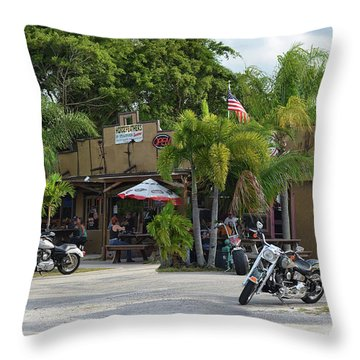 Throw Pillow featuring the photograph American Roadhouse by Laura Fasulo