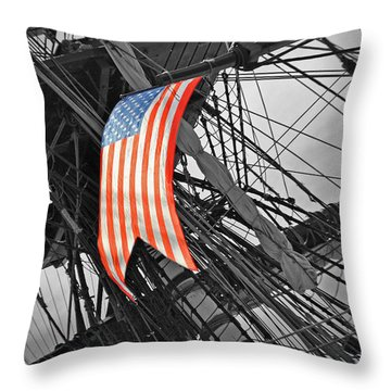 American Ropes Of Wind Throw Pillow