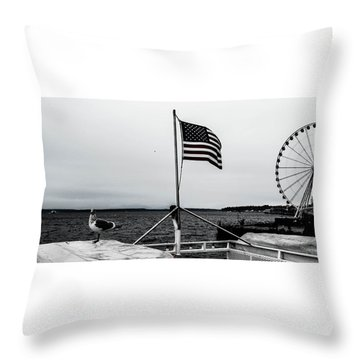 American Seattle Throw Pillow