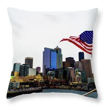 American Seattle Ic Throw Pillow