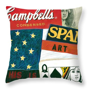 American Self Portrait Throw Pillow by Gerry High