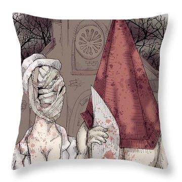 American Silent Throw Pillow