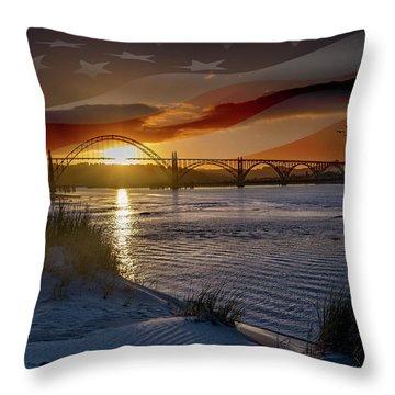 American Skies Throw Pillow