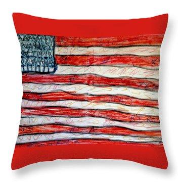 American Social Throw Pillow by Paulo Guimaraes
