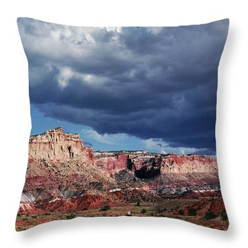 Throw Pillow featuring the photograph American Southwest by Marilyn Hunt