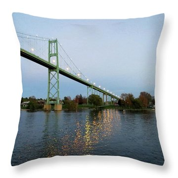 American Span Thousand Islands Bridge Throw Pillow