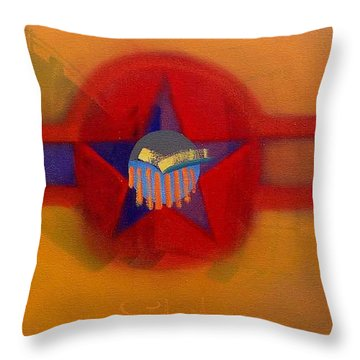 Throw Pillow featuring the painting American Sub Decal by Charles Stuart