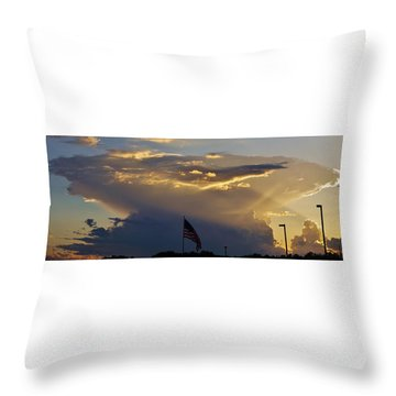 American Supercell Throw Pillow
