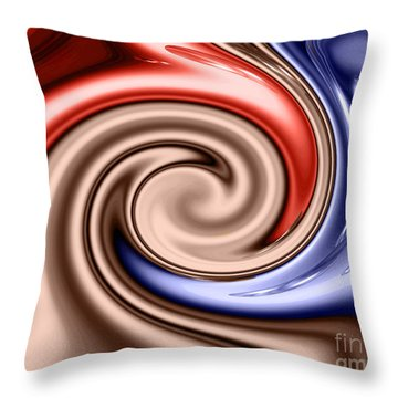 American Turmoil Throw Pillow