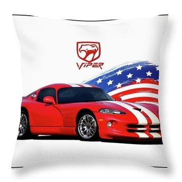 American Viper Throw Pillow