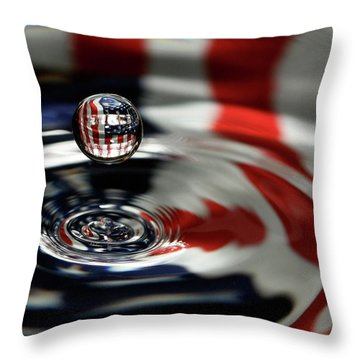 American Water Drop Throw Pillow by Betty Denise