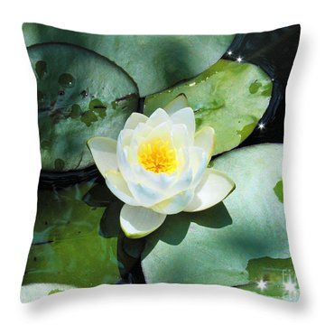 American Water Lilies Throw Pillow