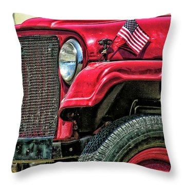 American Willys Throw Pillow by Adam Vance