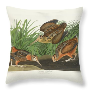 American Woodcock Throw Pillow