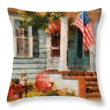 Americana - America The Beautiful Throw Pillow by Mike Savad
