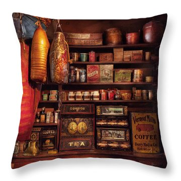 Americana - Store - The Local Grocers  Throw Pillow by Mike Savad