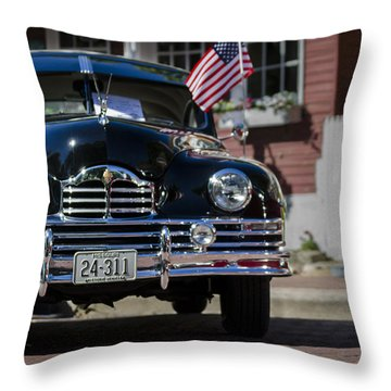 Americana Throw Pillow by Andrea Silies